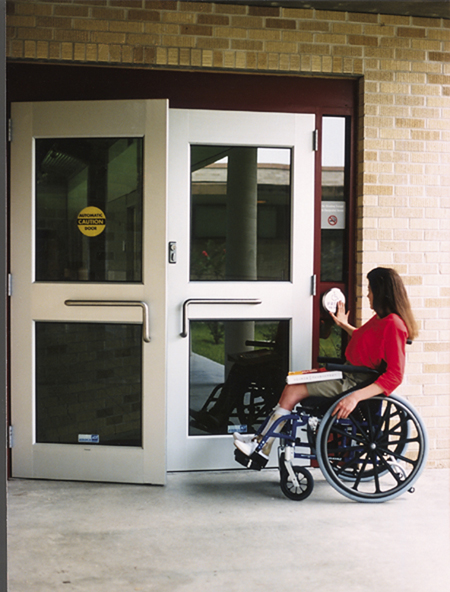 Handicapped doors 23 automatic door repair new england for Wheelchair accessible doorways